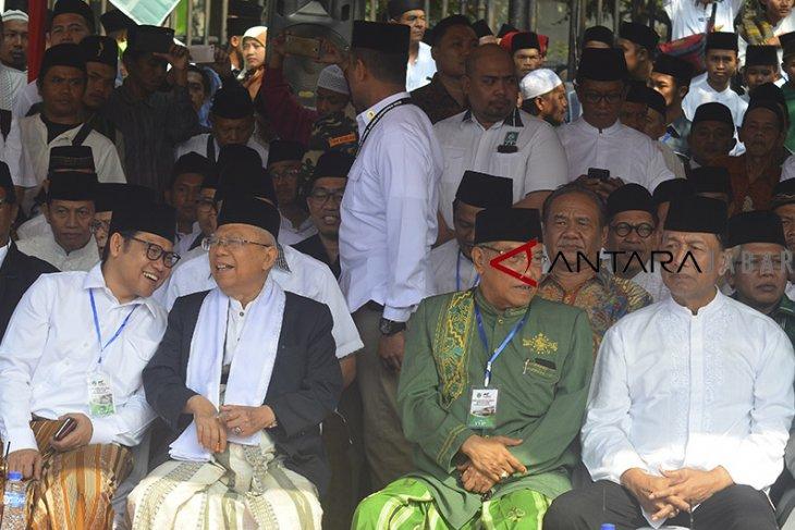 Ma'aruf Amin hadiri apel Hari Santri Nasional