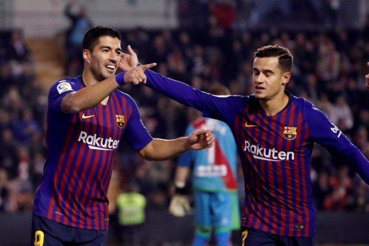 Cetak dua gol di pengujung laga, Barcelona amankan kemenangan di markas Vallecano
