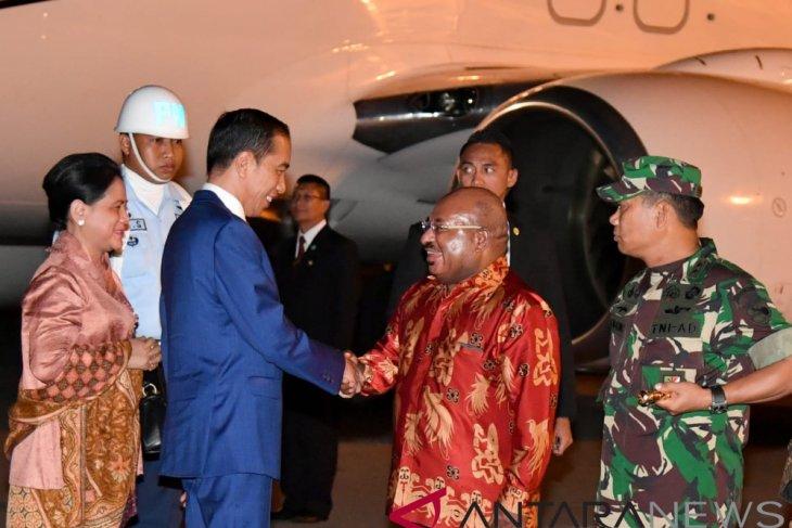 President Jokowi arrives in Merauke