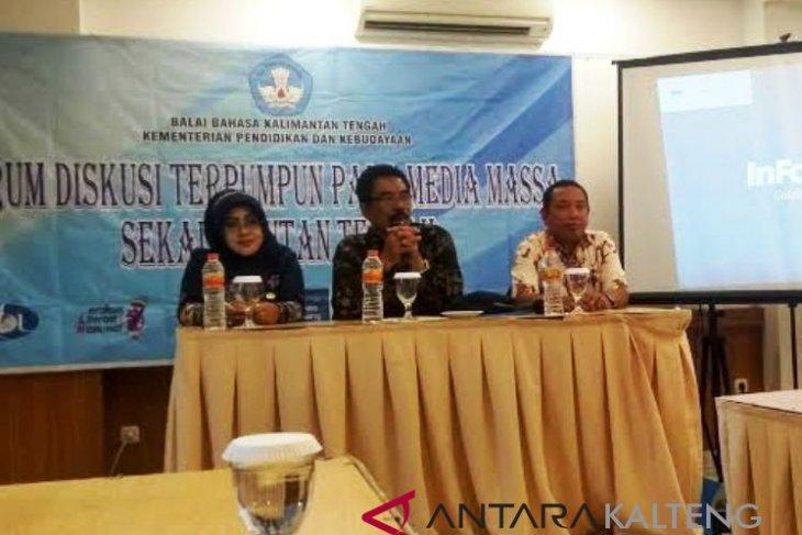 BB Kalteng penyuluhan Bahasa Indonesia kepada awak media
