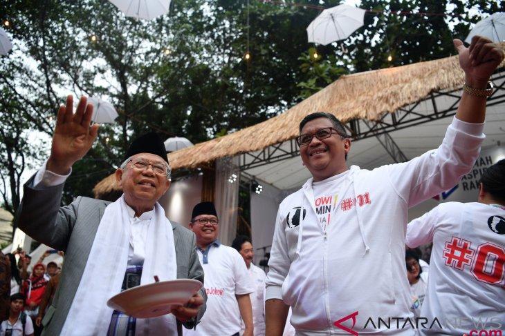 Jokowi-Ma'ruf Amin pair able to create food self-sufficiency: volunteers