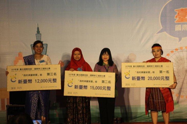 Indonesian workers in Taiwan win Mandarin speech contest