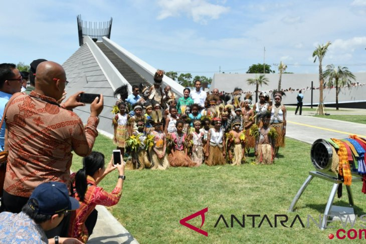 Jokowi inaugurates Time Capsule Monument in Merauke, Papua