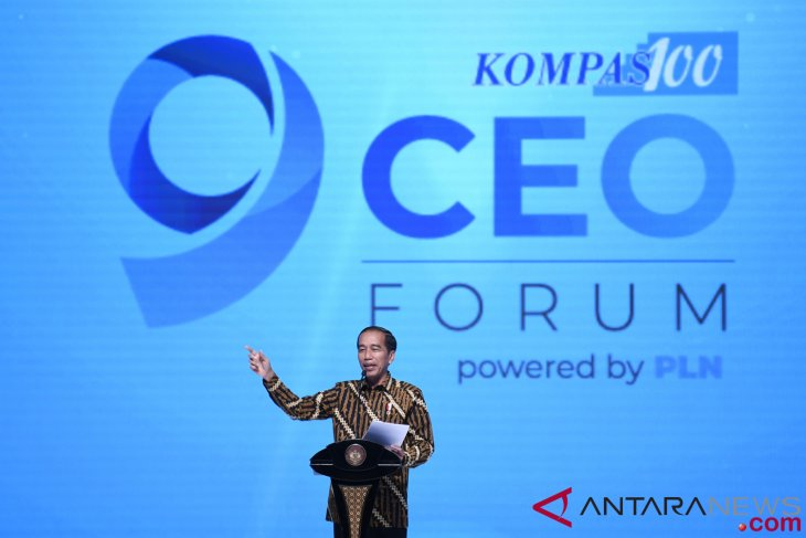 President  Jokowi opens  CEO Networking meeting