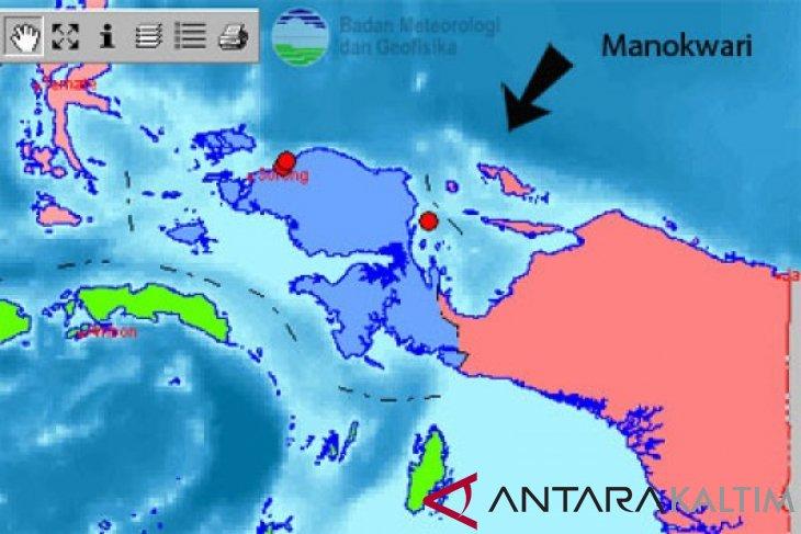 Gempa 6 SR di Manokwari Terasa Hingga Kepulauan Yapen