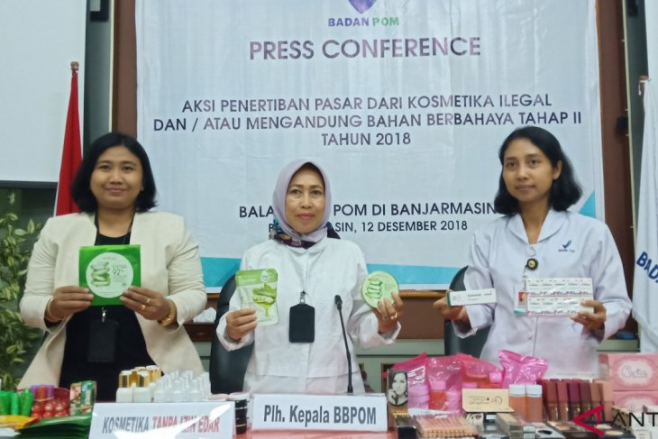 Badan POM Banjarmasin sita ratusan item kosmetik ilegal
