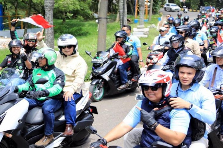 Prabowo hadiri kopdar Ojol di Sirkuit Sentul