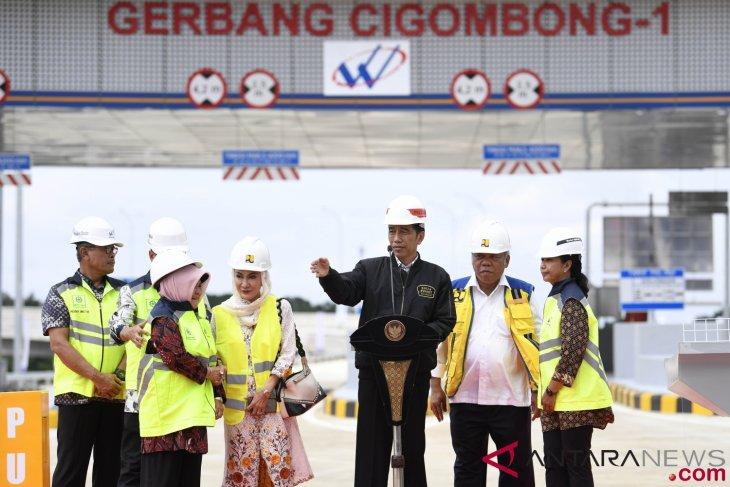President Jokowi inaugurates section i of Ciawi-Sukabumi Toll Road