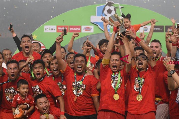 Soccer - Persija jakarta champion of liga 1 competition