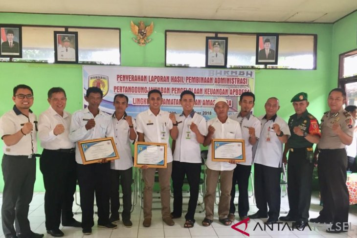 Tiga Desa di Kecamatan LAU menjadi terbaik dalam administrasi keuangan dan pembangunan desa