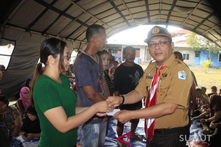 Pramuka Kota Sibolga bantu korban kebakaran