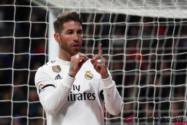 Sergio Ramos cetak gol ke-100, Real Madrid kalahkan Leganes 3-0