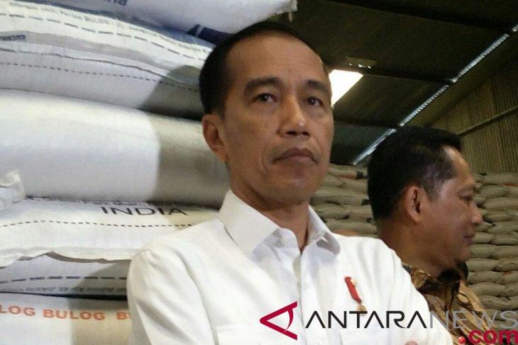 Presiden Jokowi: beras impor belum masuk