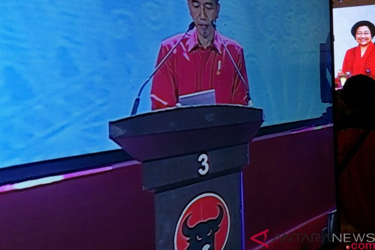 President jokowi attends event to celebrate PDIP`s 46th anniversary