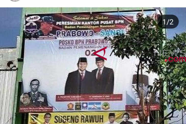 Ex-mily chief wants his photo be taken out from Prabowo-Sandiaga billboard