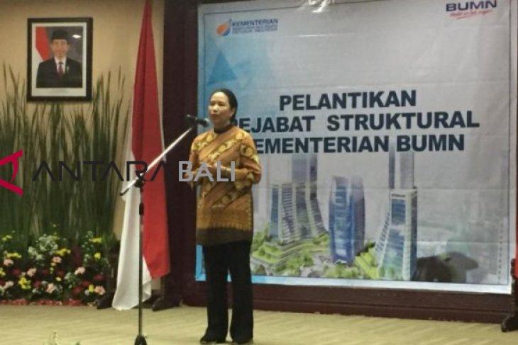 Menteri Rini rotasi 27 pejabat Kementerian BUMN