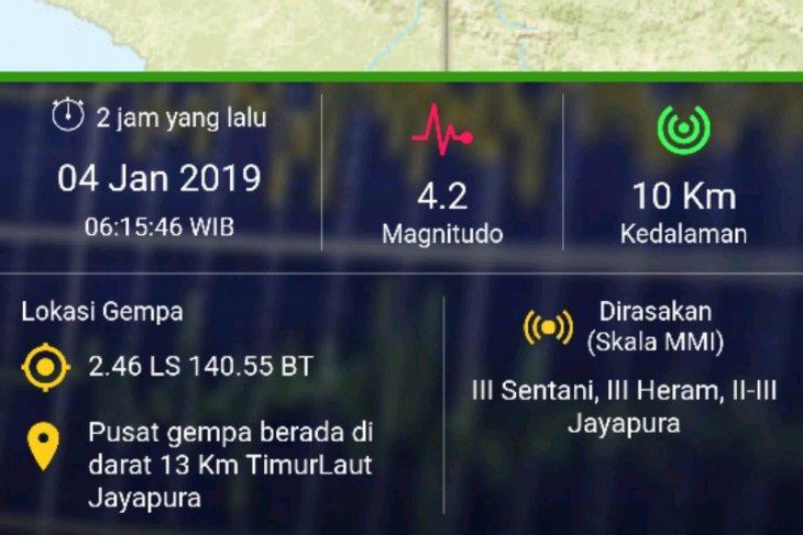 Gempa 4,2 SR guncang Jayapura