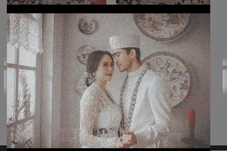 Aura Kasih pamer foto pernikahan
