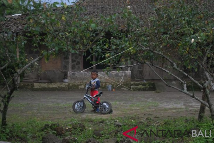 Warga lereng Merapi masih beraktifitas normal
