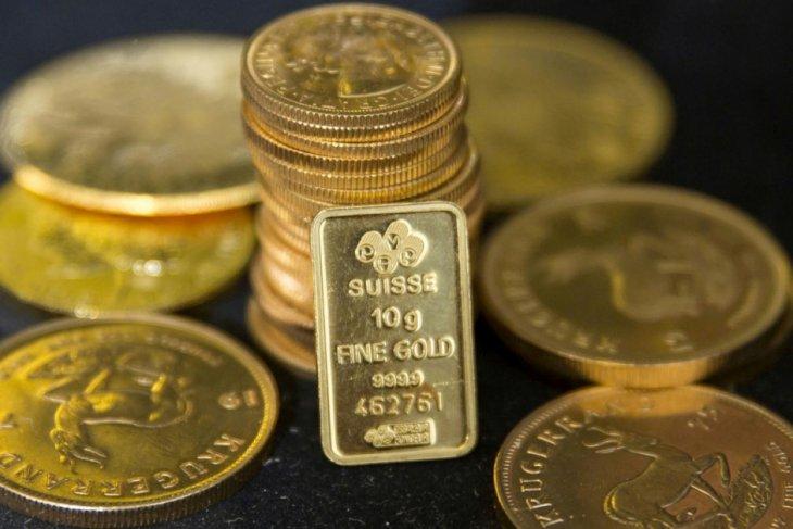 Harga emas berjangka ditutup lebih tinggi untuk hari ketiga berturut-turut