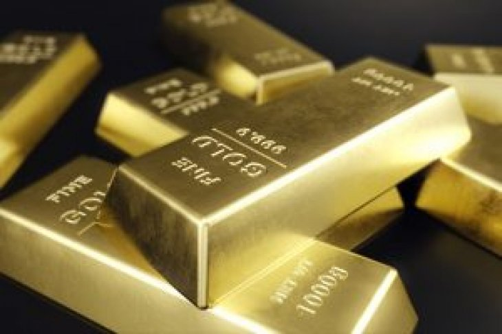 Harga emas jeblok lagi 26,2 dolar