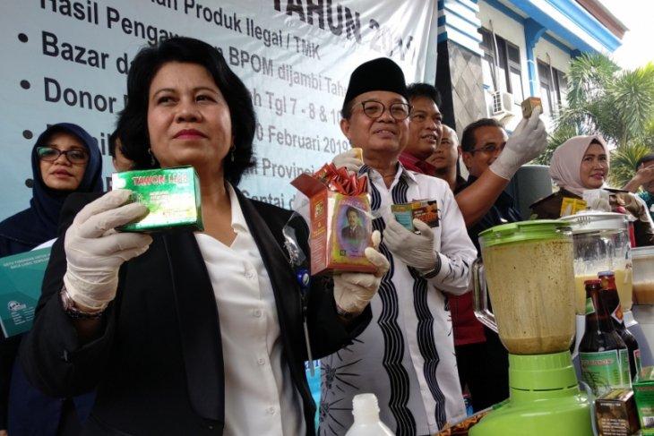 Balai POM Jambi musnahkan 2.130 item obat dan makanan ilegal