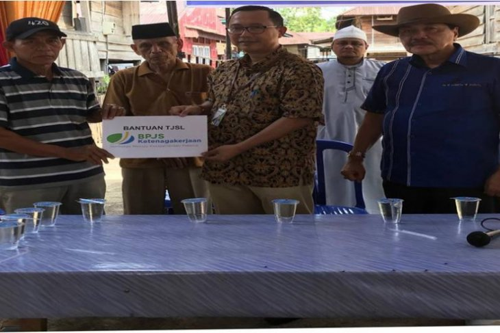 BPJS Ketenagakerjaan Muarabungo bantu pembangunan mesjid dan ponpes