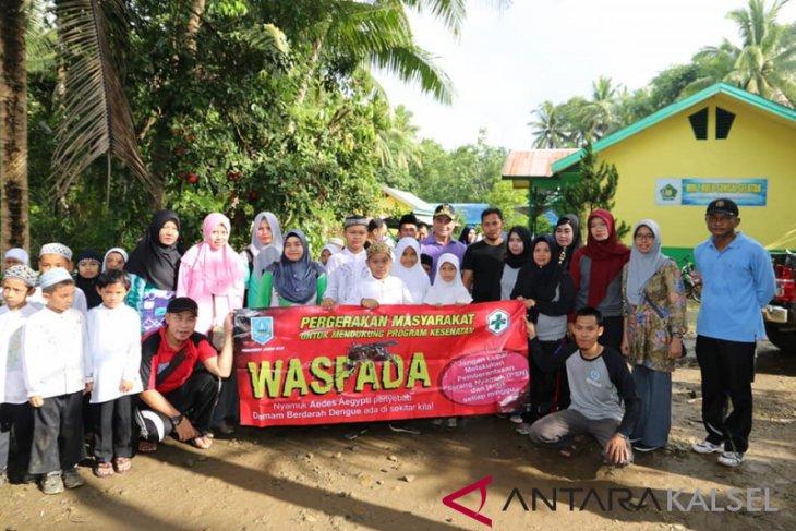 Gerakan pemberantasan sarang nyamuk HSS sasar lingkungan desa