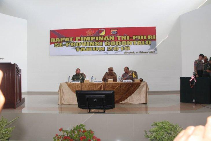 Pangdam Merdeka Hadiri Rapim TNI-Polri di Gorontalo