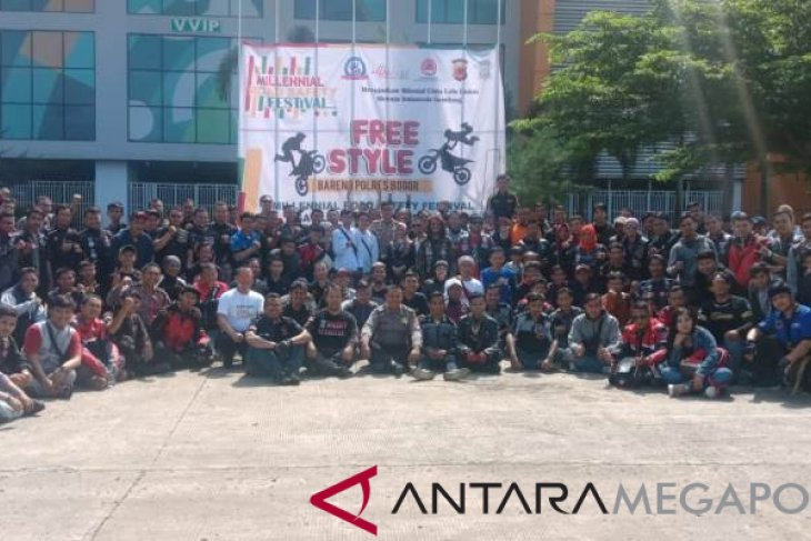 Satlantas Bogor silaturahmi dengan komunitas motor