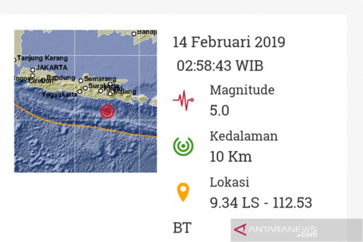 Kabupaten Malang diguncang gempa magnitudo 5,0