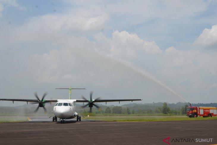 Citilink mendarat perdana di Bandara Aek Godang Paluta