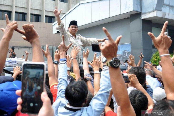 Prabowo hadiri silaturahmi warga Muhammadiyah