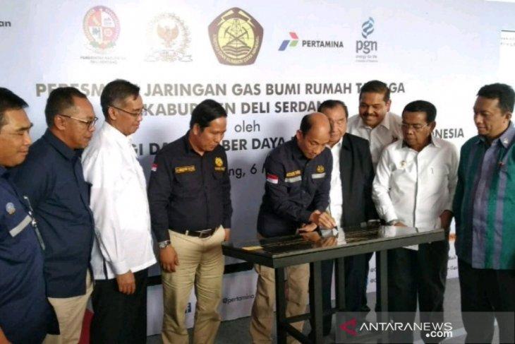 Jaringan gas bumi untuk 5.560 rumah tangga di Deliserdang diresmikan