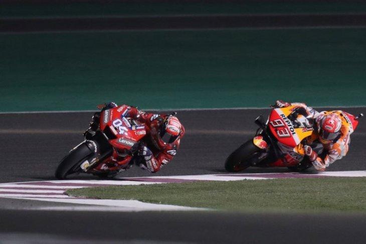 Hasil GP Qatar, Dovizioso ulangi duel sengit dengan Marquez di Losail