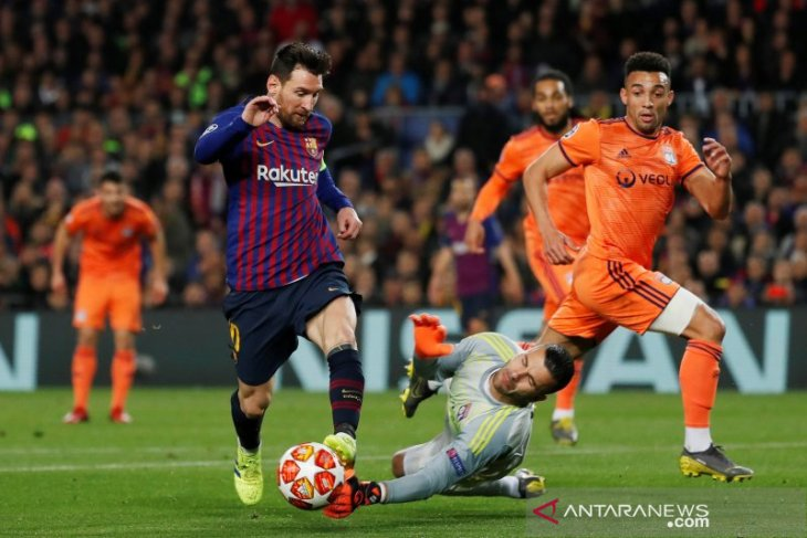 Lionel Messi antar Barcelona ke perempat final Liga Champions