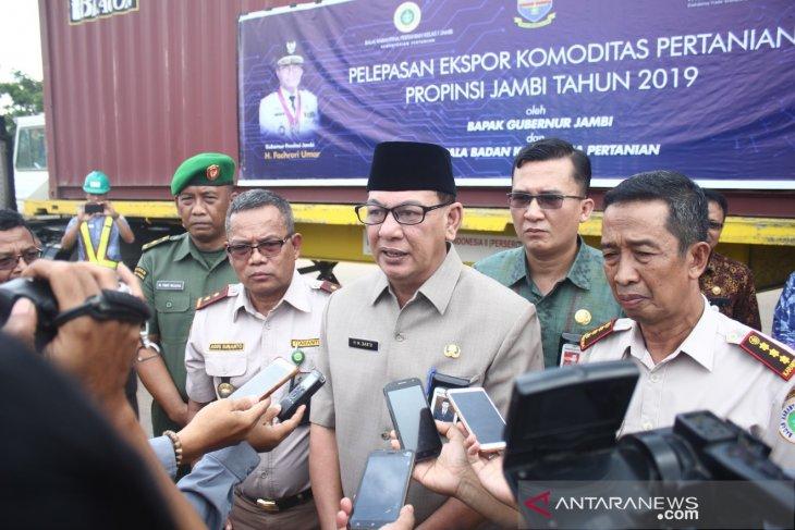 Jambi ekspor ribuan ton lima komoditi pertanian