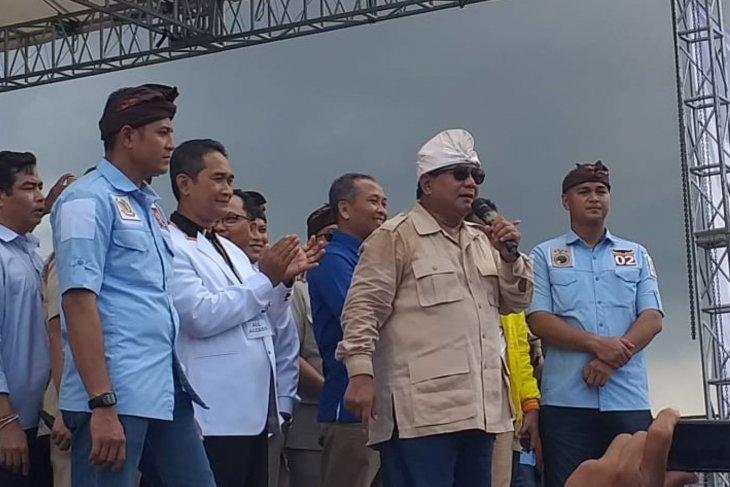Capres Prabowo kampanye terbuka di Bali (video)