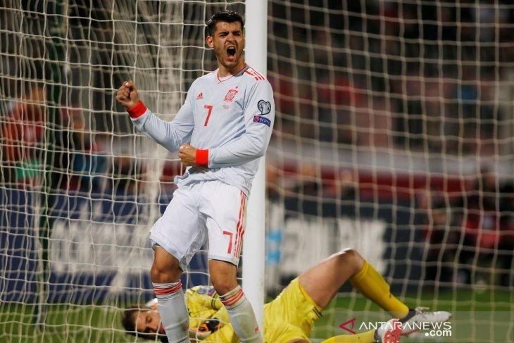 Dwigol Morata antar kemenangan Spanyol atas Malta