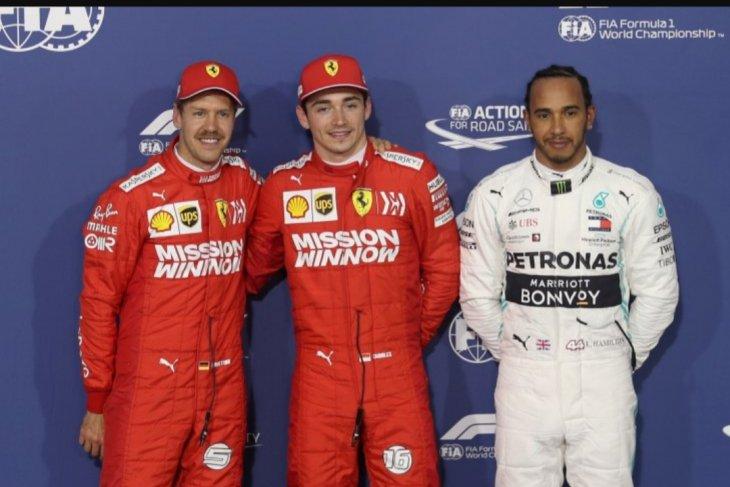 Charles Leclerc raih pole position pertamanya di GP Bahrain