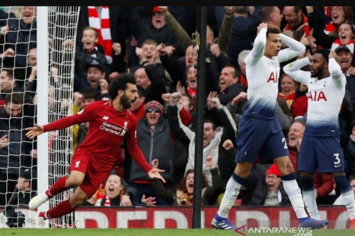 Liverpool kembali ke puncak usai kalahkan Tottenham 2-1