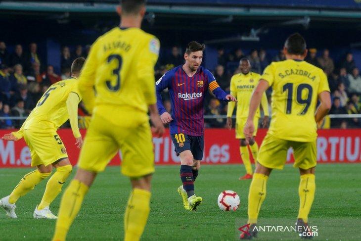 Barcelona ditahan imbang Villarreal, hanya mampu berbagi gol 4-4