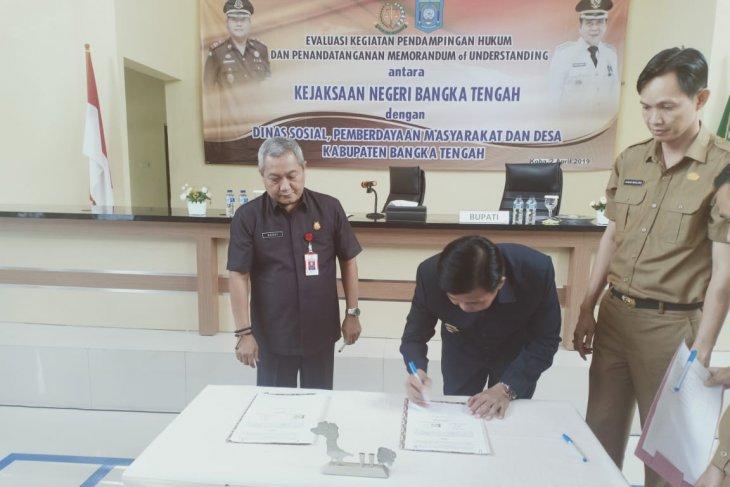 Pemkab Bangka Tengah gandeng Kejari pendamping hukum penggunaan dana desa