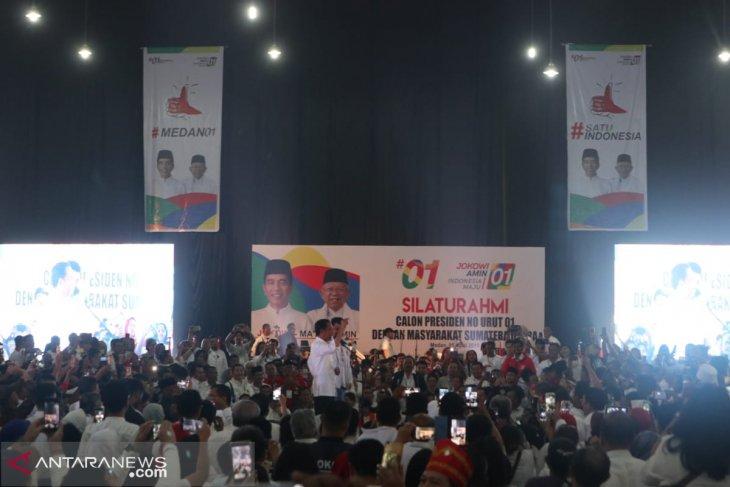 Kampanye di Sumut, Jokowi kenalkan Bobby ke masyarakat