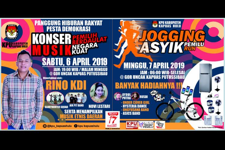 Sambut pesta demokrasi, KPU Kapuas Hulu siapkan panggung hiburan