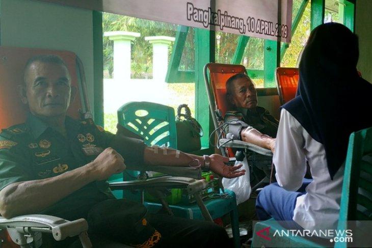PT Timah - Korem 045/Garuda Jaya gelar donor darah