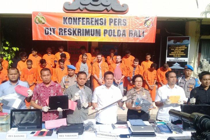 Polda Bali ungkap 67 kasus kejahatan jelang Pemilu