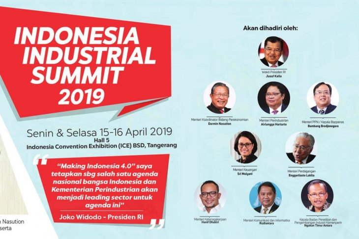Indonesia  Industrial Summit  to be held on April 15-16