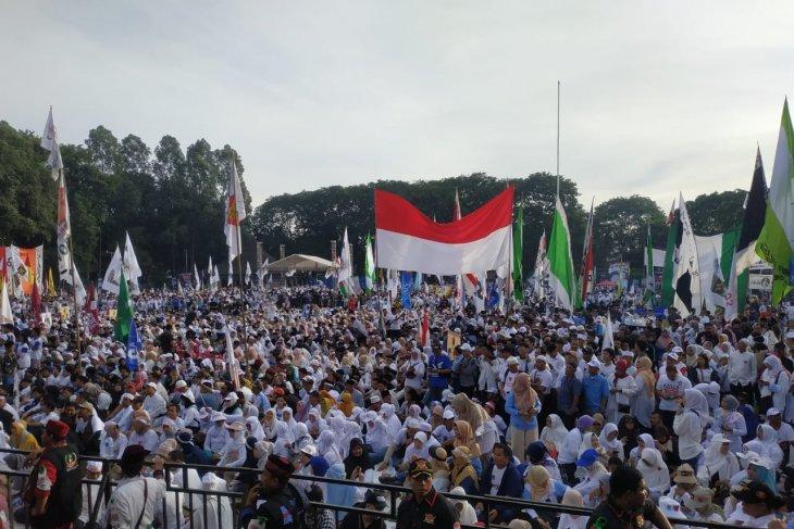 Kampanye akbar Prabowo-Sandi di Tangerang Banten diawali senam sehat