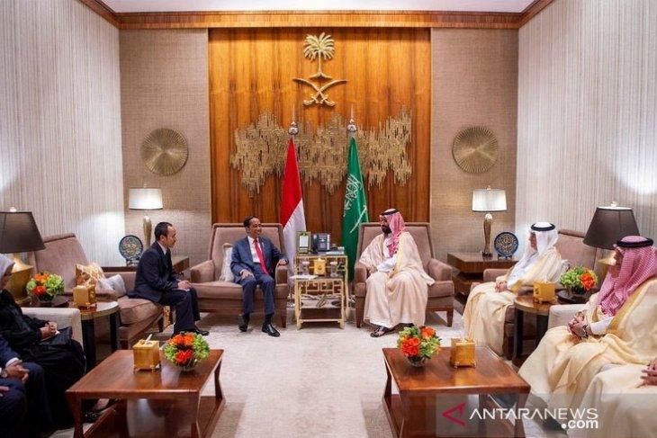 Saudi crown prince receives Indonesian president